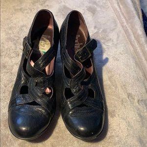 Indigo by Clarks black heels size 8m
